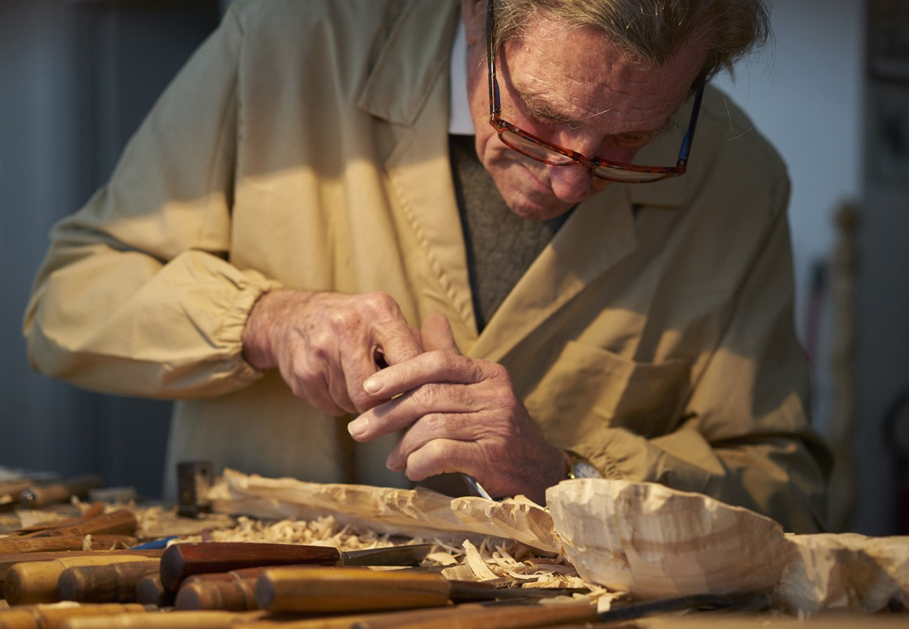 True passion  and outstanding craftsmanship exalt the wood cutting and the beauty of the classic forms