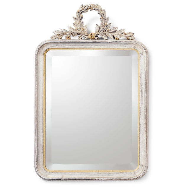 Mirror frame with laurel crown