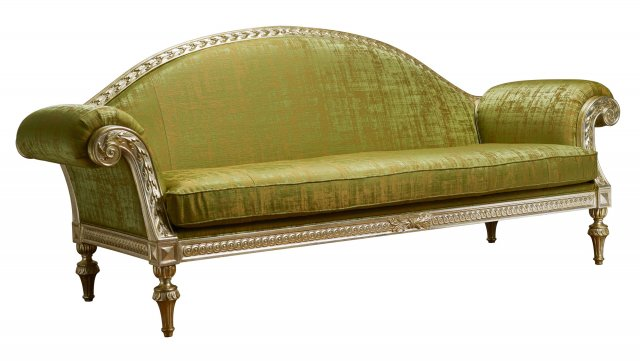 Savoy Carved sofa, with seat cushion