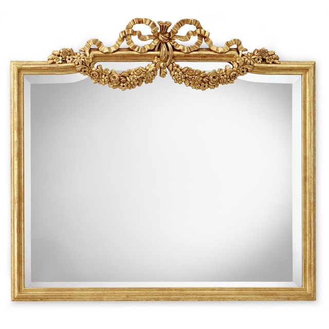 Mirror frame with garland of flowers