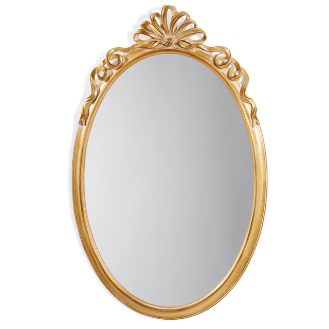 Mirror frame oval with ribbon