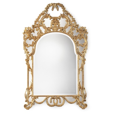 Mirror frame with garland