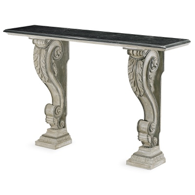 2 legs rectangular console table