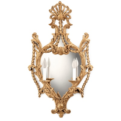 2 lights sconce with mirror
