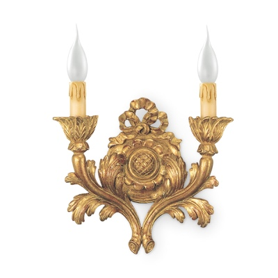 2 lights sconce with stud and bow