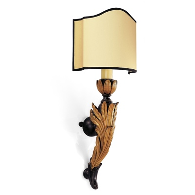 Sconce with leaves