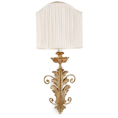 1 light sconce acanthus leaf