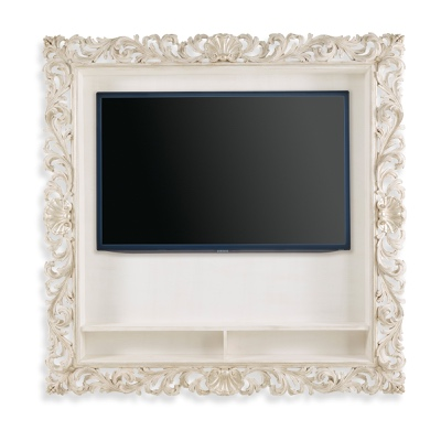 TV frame with shells and shelves