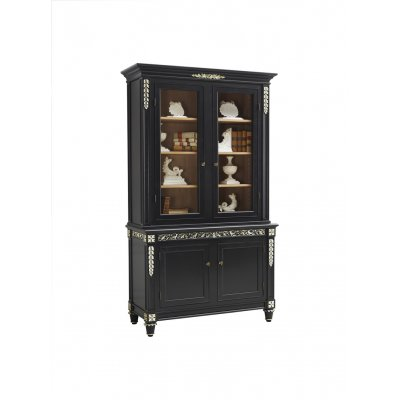 2 doors glass cabinet