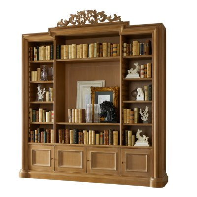 Book case with ornament
