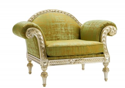 Savoy Carved armchair, with seat cushion