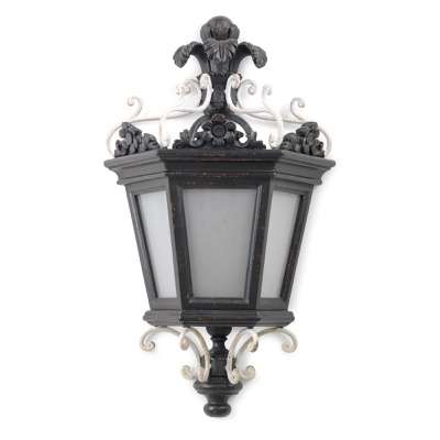 2 lights lantern sconce