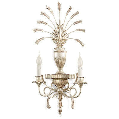 2 lights sconce with wheat