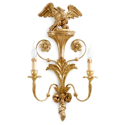 2 lights sconce with eagle