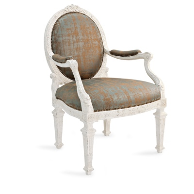 Armchair with oval back