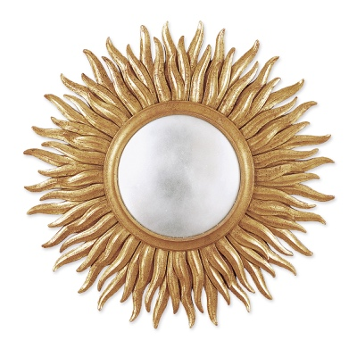 Mirror frame sun shape