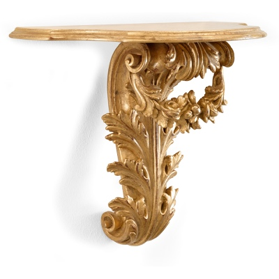Acanthus leaves and roses wall bracket