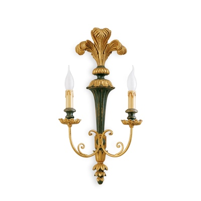 2 lights sconce with plumage