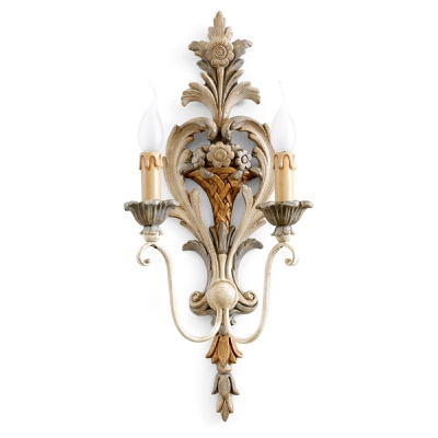 2 lights sconce with flowers